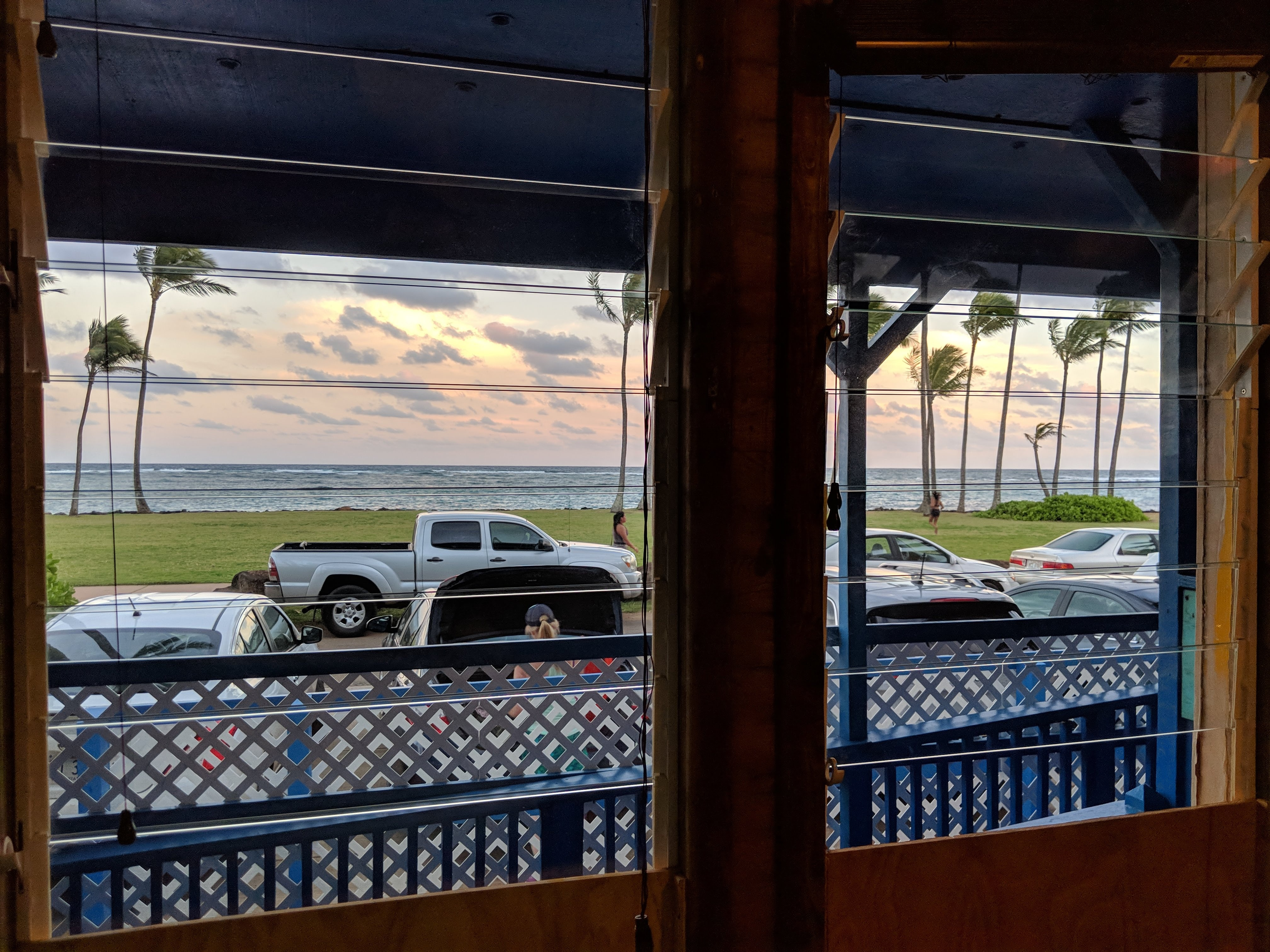 the-view-from-our-room-at-Kauai-Beach-hostel